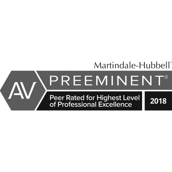 Preeminent Award, Peer Rated for Highest Level of Professional Excellence